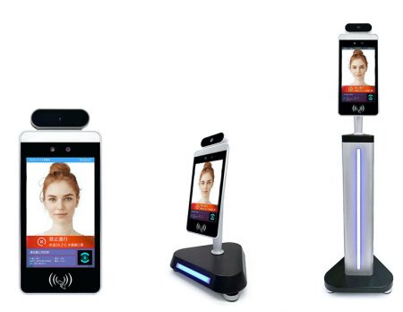 FALCON | מערכת ניידת עם תצוגת מסך למדידת חום וזיהוי פנים